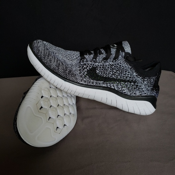 best website 04ca3 842f6 Nike Free RN Flyknit 2018 Oreo Colorway. M 5c1cb59345c8b3afa20f88de